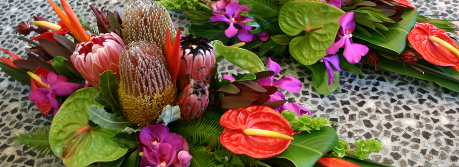 native table arrangement florist gold coast