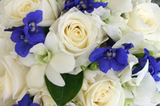 wedding flowers gold coast blue white
