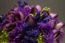 purple wedding flowers gold coast