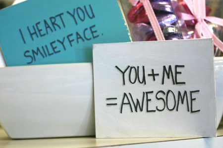 funny text cards you and me equals awesome