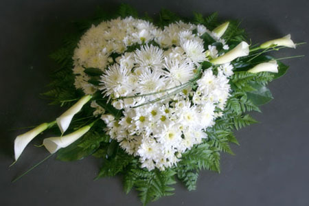 white wreath with feature