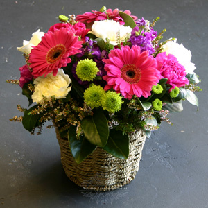 floral-basket-arrangement-delivered-gold-coast