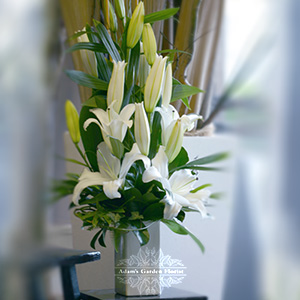 white-lily-arrangement