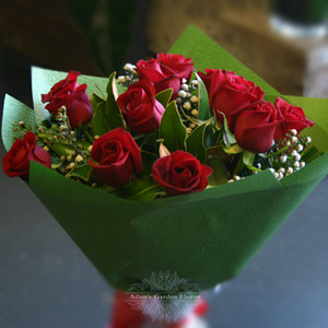 Rose bouquet adam 39 s garden florist - Red garden rose bouquet ...
