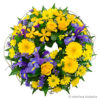 yellow-purple-floral-wreath-round