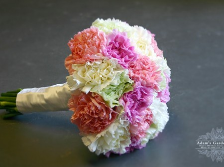 posy of carnations for a Gold Coast wedding
