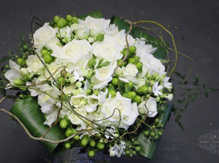 white brides wedding bouquet wild style