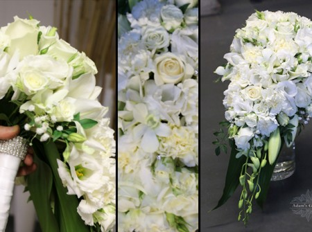 ivory white teardrop bouquet for bride
