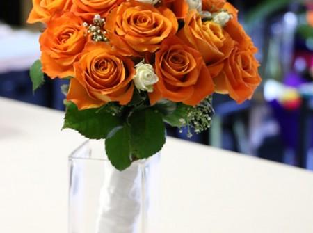 Southport main beach bridal posy orange