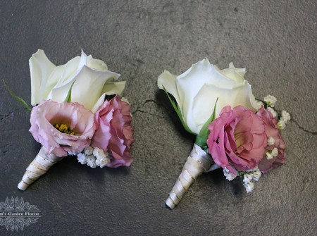 sweet corsages wedding gold coast white roses