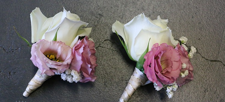 sweet corsages wedding gold coast white roses