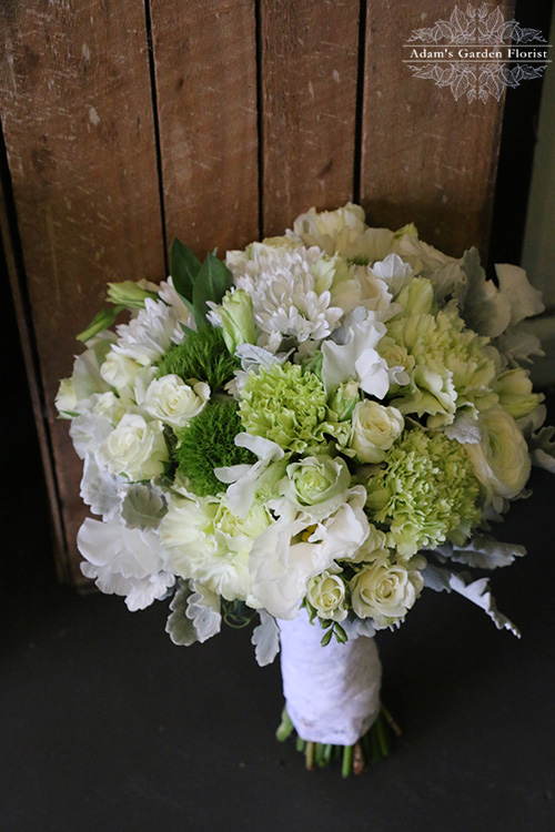 bridal bouquet gold coast florist parkwood white green lace