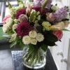 full bouquet in vase