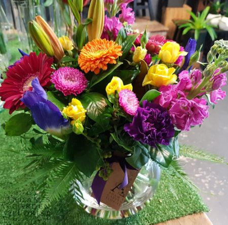 bouquet in a vase, bright tones. Gold Coast delivery