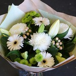 white and green bouquet for delivery gold coast florist