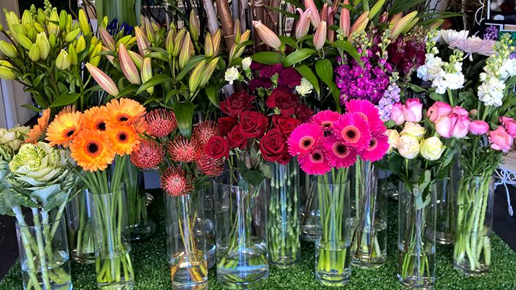 colour gradation flower table florist parkwood