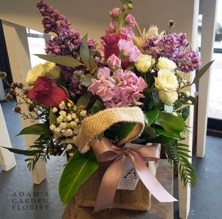 Flowers in just bag. Small, cottage style. Gold Coast delivery.
