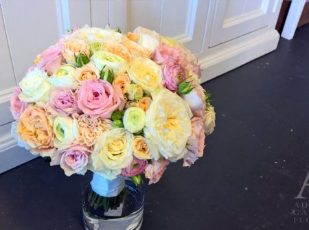 bridal posy pastel colours