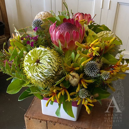 native flower box arrangement