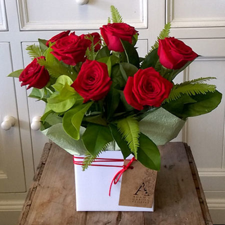 red roses box gold coast florist
