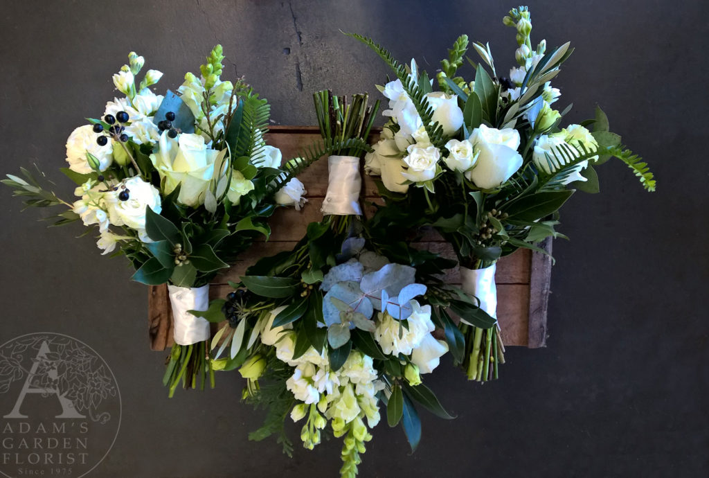 White and green wedding flowers gold coast