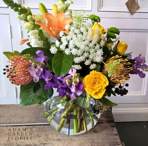 Fishbowl Vase Arrangement Adams Garden Florist