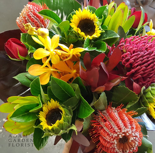 Native and tropical flower bouquet Gold Coast