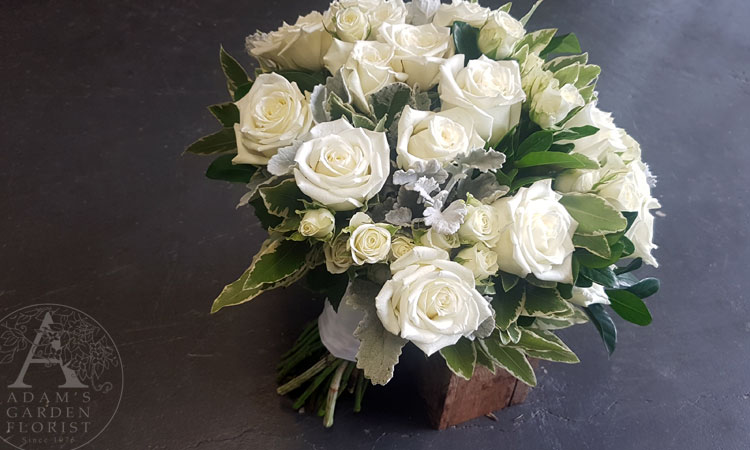 White rose wedding bouquet Gold Coast