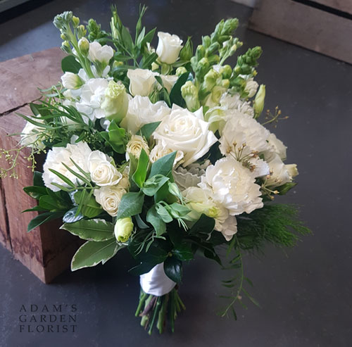 seasonal white flower bridal posy Gold Coast