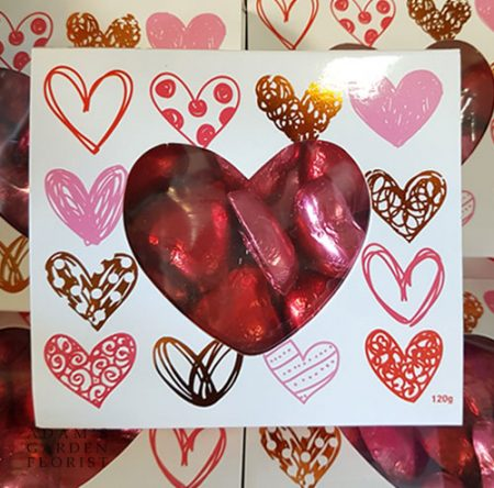 chocolate hearts gift box delivered gold coast florist