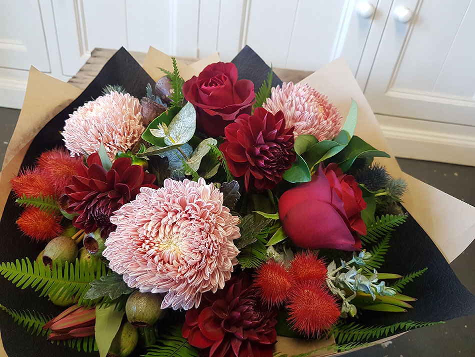 burgundy-seasonal flowers gold coast delivery parkwood florist