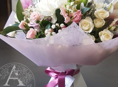 Pretty-Bouquet in cardboard vase for Southport delivery