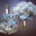 bridesmaids baby's breath posies Gold Coast wedding flowers